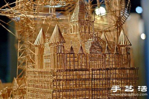 35年10万根牙签纯手工制作旧金山街景模型
