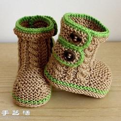 织出来的迷你鞋子 只有宝宝才能穿上吧!