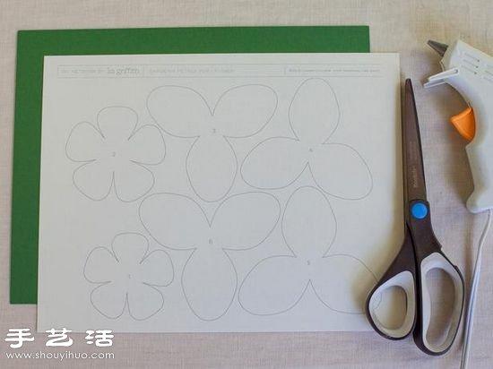 卡纸手工制作栀子花手工花图解教程