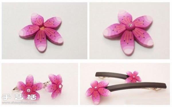 櫻花裝飾髮飾首飾軟陶粘土手工製作教學