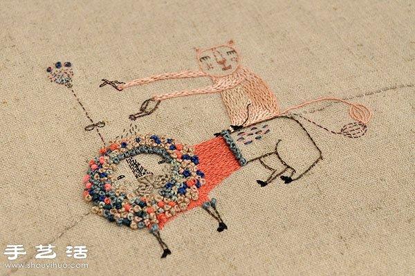 Adriana的自创刺绣品牌作品欣赏 -  www.shouyihuo.com