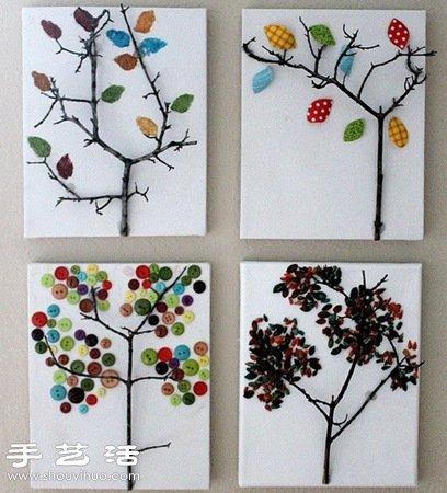 枯树枝变废为宝diy制作原生态手工艺品图片