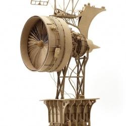 硬纸板制作的的精致复古飞行器
