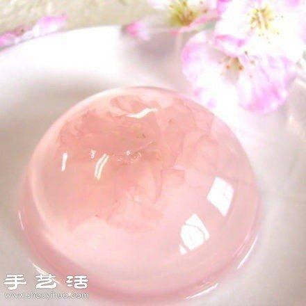 日本甜品大全_漂亮精致的日本樱花果冻_手艺活网