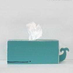 萌萌的鲸鱼抽纸盒