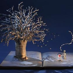 精致细腻的书本纸雕作品欣赏