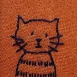 超简单狗狗、猫猫手工刺绣图案