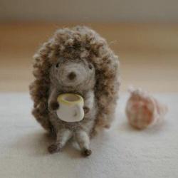 羊毛毡小刺猬手工艺品