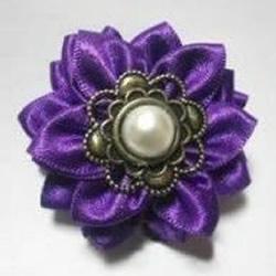 丝带制作花朵饰品 丝带花头饰胸花手工制作