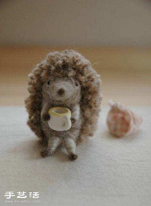 羊毛毡小刺猬龙都娱乐品 -  www.shouyihuo.com