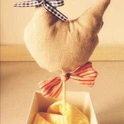 可爱的森系布艺小鸭子