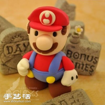 超級馬里奧公仔軟陶粘土橡皮泥手工製作教學