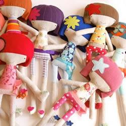 可爱布艺女生娃娃玩偶