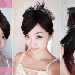 月形弯梳/方丝巾 DIY不一样的盘发发型