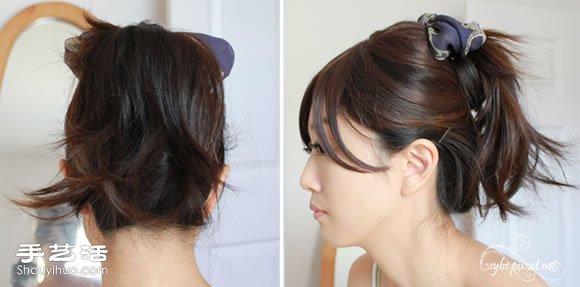月形彎梳/方絲巾 DIY不一樣的盤發髮型