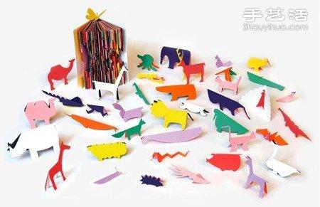 旧书本杂志DIY手工制作充满创意剪影书 - www.shougong.com