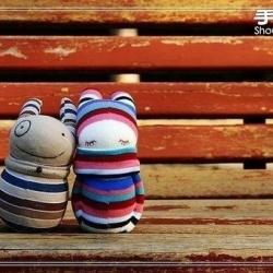 袜子娃娃玩偶:女孩与她的宠物狗