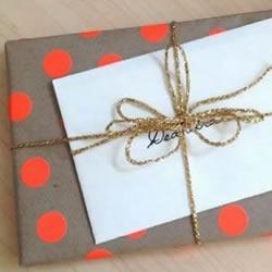 自制圆点包装纸 创意DIY圆点包装纸