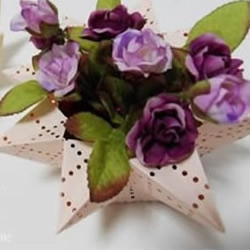 折纸手工制作立体八角形收纳盒/花瓶