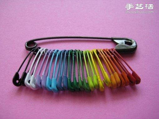 别针创意DIY 不同颜色串起来也挺美的! -  www.shouyihuo.com