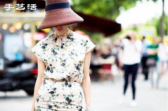 夏去秋來 歐美街拍印花服飾穿衣搭配