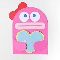 卡纸剪纸手工制作可爱动物心形便签图解教程