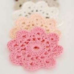 针织可爱小花杯垫