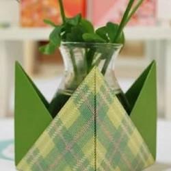 彩纸折纸手工制作迷你盆栽装饰收纳盒