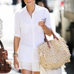 女生夏天混搭白色穿衣搭配方法