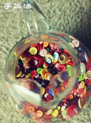 一玻璃瓶的纽扣也这么有艺术气息! -  www.shouyihuo.com