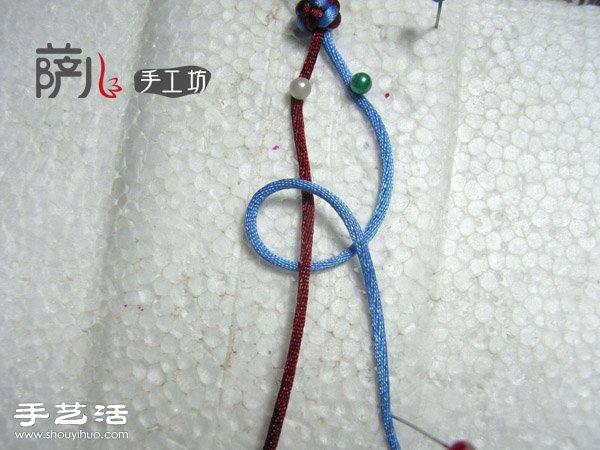 两根绳子蛇结手绳的编法图解 www.shouyihuo.com
