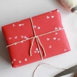 简单创意小制作 DIY心形图案礼品包装