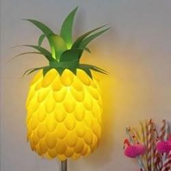 旧台灯改造:利用塑料瓶和勺子DIY菠萝台