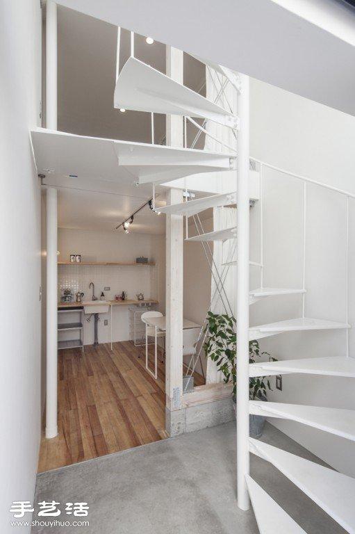 日式简约风格回旋梯直立式平房装修设计