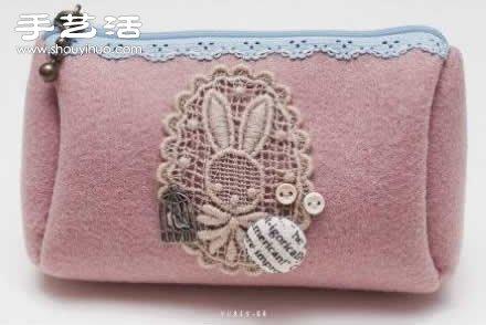 带拉链女用手包零钱包手工制作图解教程