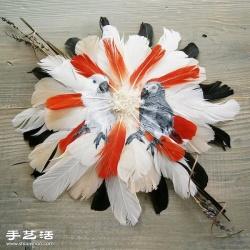 充满灵魂的印地安风格羽毛画龙都娱乐品