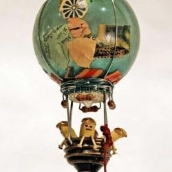 旧灯泡变废为宝创意DIY热气球龙都娱乐品