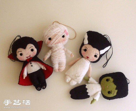 很可爱的手工不织布娃娃作品欣赏