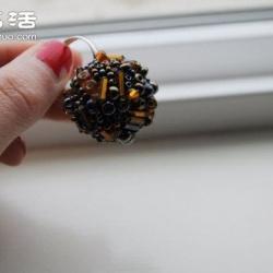 简单串珠戒指DIY手工制作图解教程
