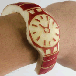 恶搞雕刻:真正苹果制作的Apple Watch