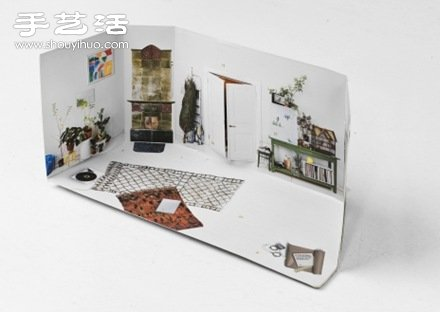 芬蘭設計工作室Houm設計DIY的房間紙模