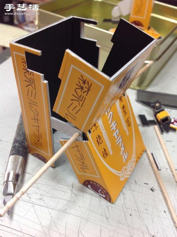 纸盒子手工制作可以变形的擎天柱模型玩具