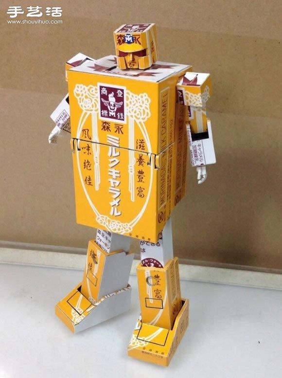 自制diy纸巾盒_纸盒子手工制作可以变形的擎天柱模型玩具_手艺活网