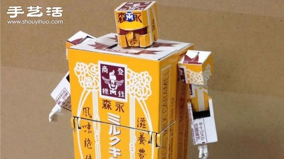 纸盒子手工制作可以变形的擎天柱模型玩具 -  www.shouyihuo.com