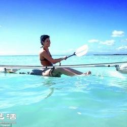 全透明独木舟设计 让你一眼尽收海底美景