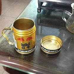 红牛罐子DIY制作超酷帅水杯