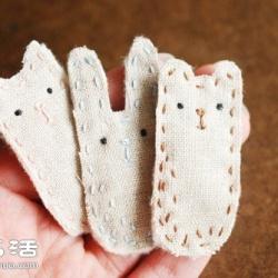 不织布手工制作可爱小动物胸针图解教程