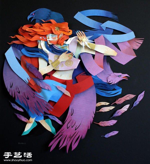 超強日本浮世繪風格紙藝藝術作品