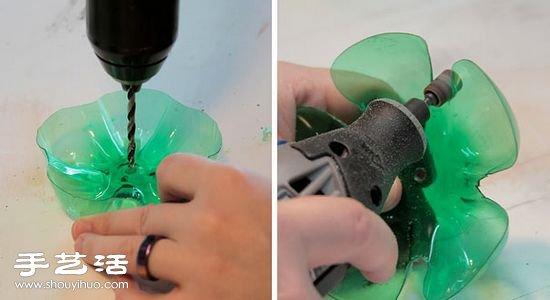 雪碧瓶子手工制作漂亮的首饰架图解教程