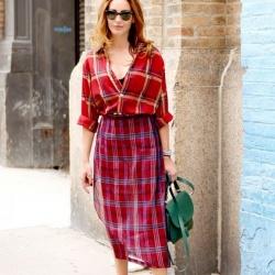 摆脱一成不变 经典格纹打造时尚穿衣风格